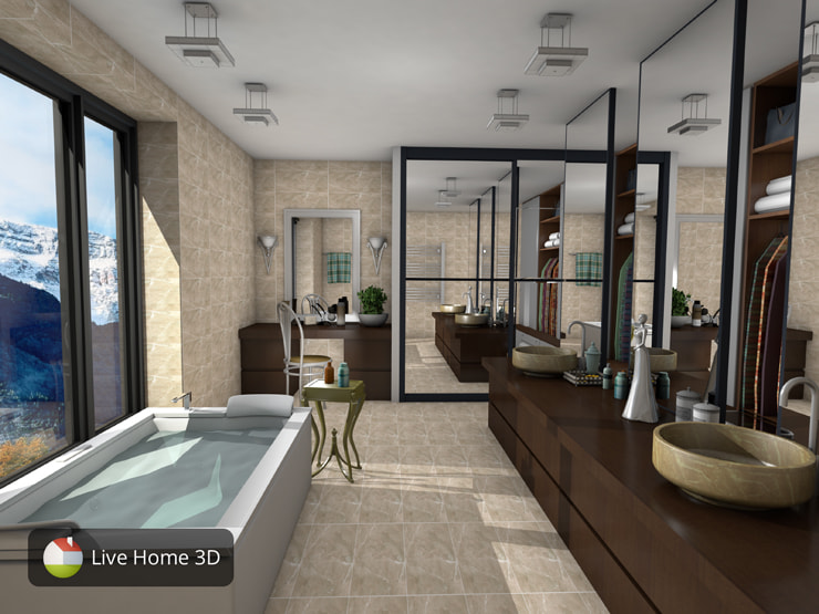 A stylish bathroom created in Live Home 3D