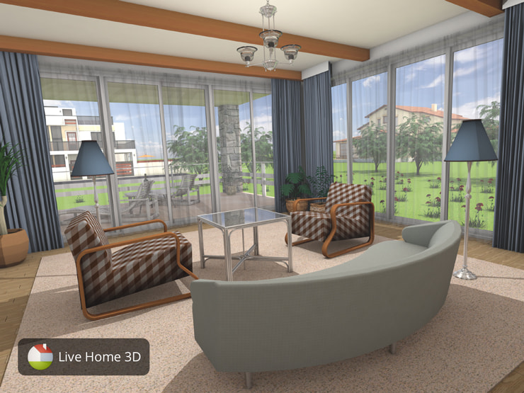 A living room made in Live Home 3D