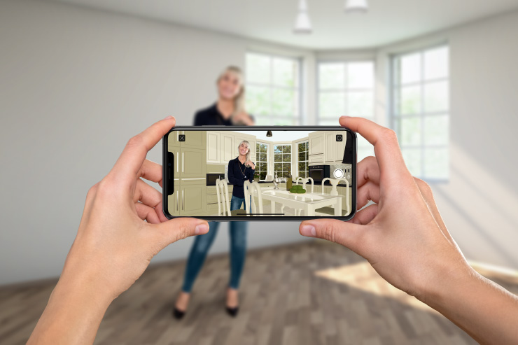 Live Home 3D People Occlusion in AR