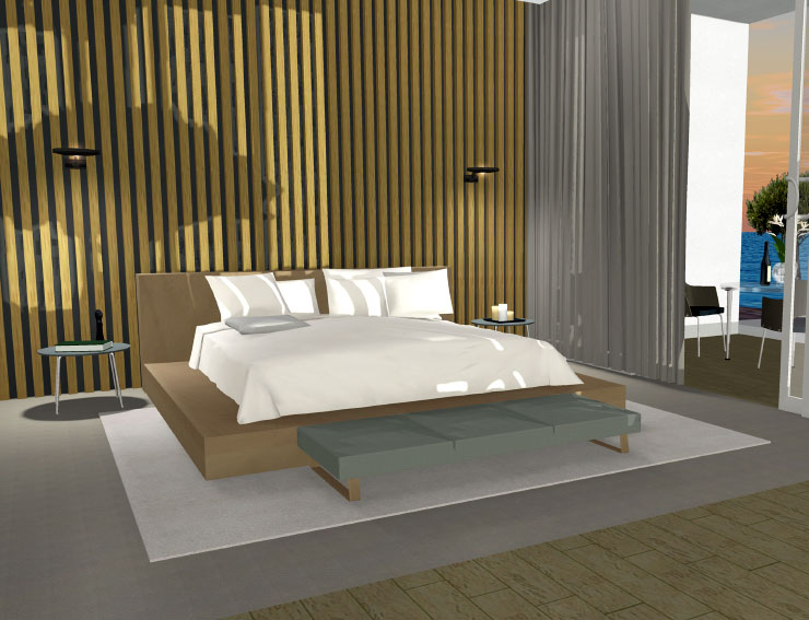 Bedroom design made in Live Home 3D