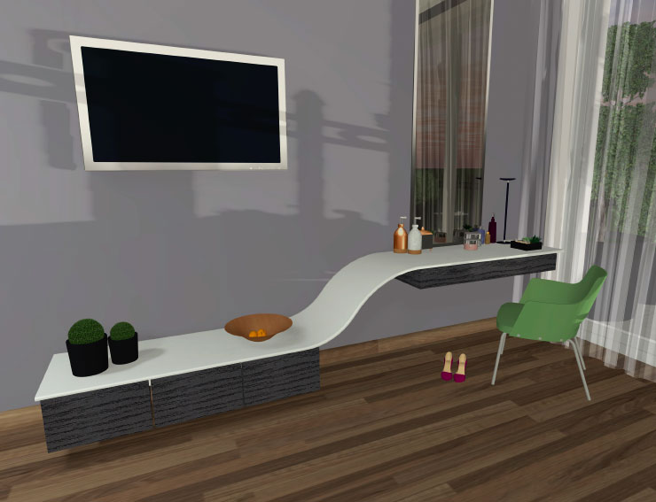 Modern vanity stand designed in Live Home 3D