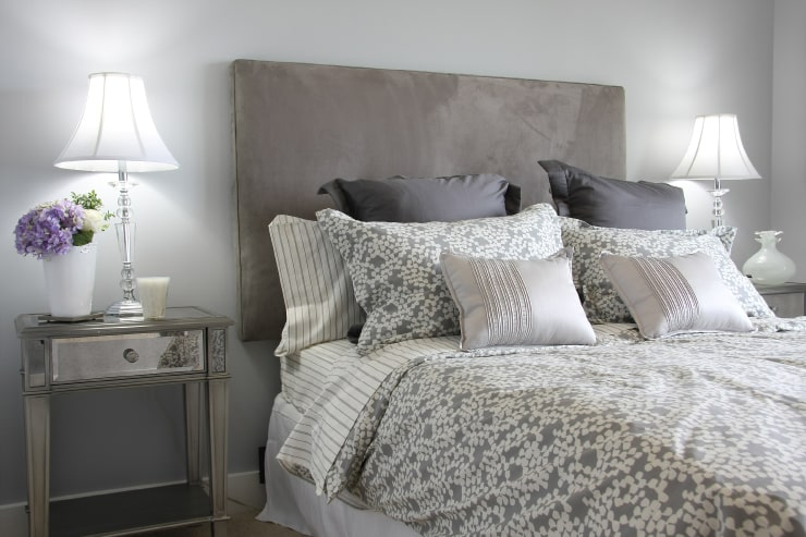 Using many pillows is a cool bedroom design idea