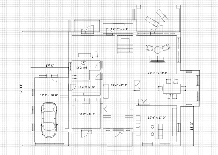 A floor plan made in Live Home 3D