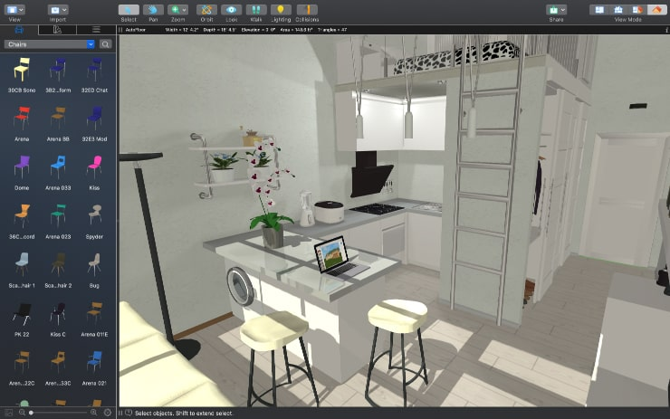 A screenshot of a tiny home design made in Live Home 3D
