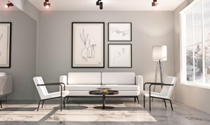 A living room design in Live Home 3D