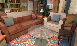 A famous room from The Big Bang Theory series