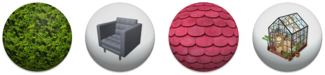 Icons of in-apps available inside Live Home 3D