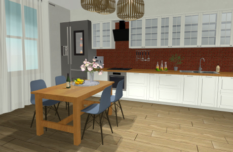 Traditional kitchen interior – video preview