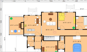 Screenshot of a floorplan created in Live Home 3D app