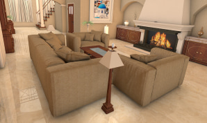 A stylish living room designed by Live Home 3D team