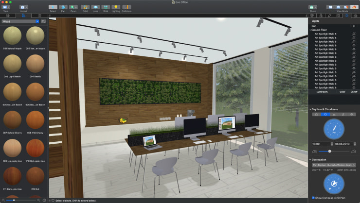 A modern office designed in Live Home 3D