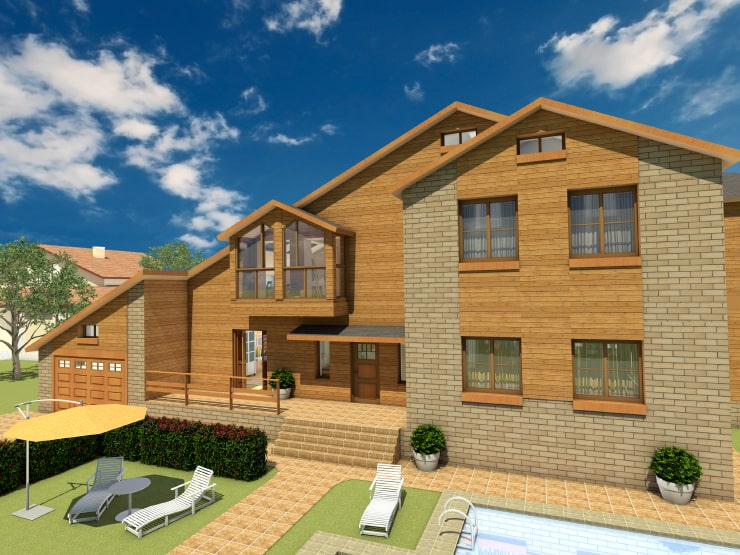 A house created in Live Home 3D