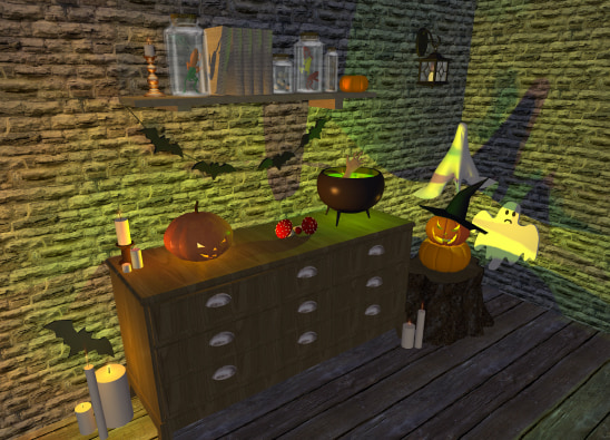 Halloween decorations for Live Home 3D