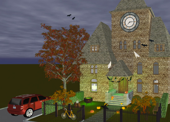 Scary graveyard house in Live Home 3D