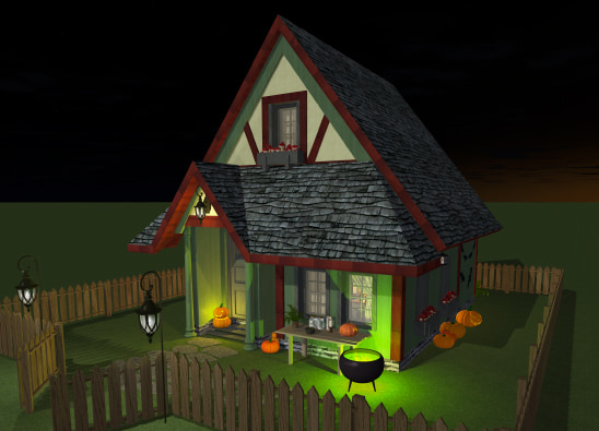 Witch house design in Live Home 3D