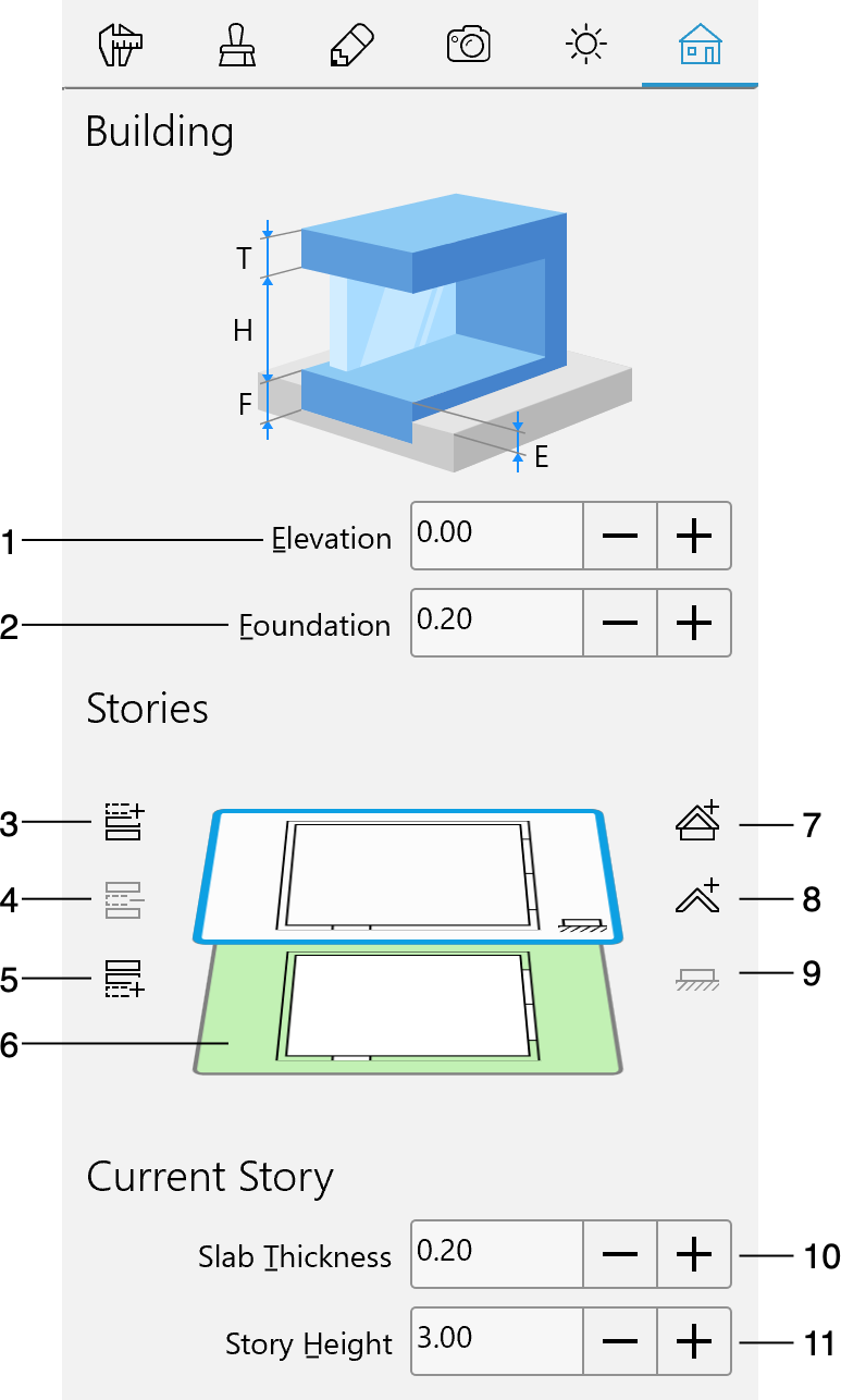 Managing Stories in the Inspector – Live Home 3D for Windows
